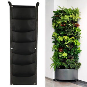 poches-sac-de-plantation-suspendu-mur-vertical-jardiniere-suspendu-Fleur-jardin