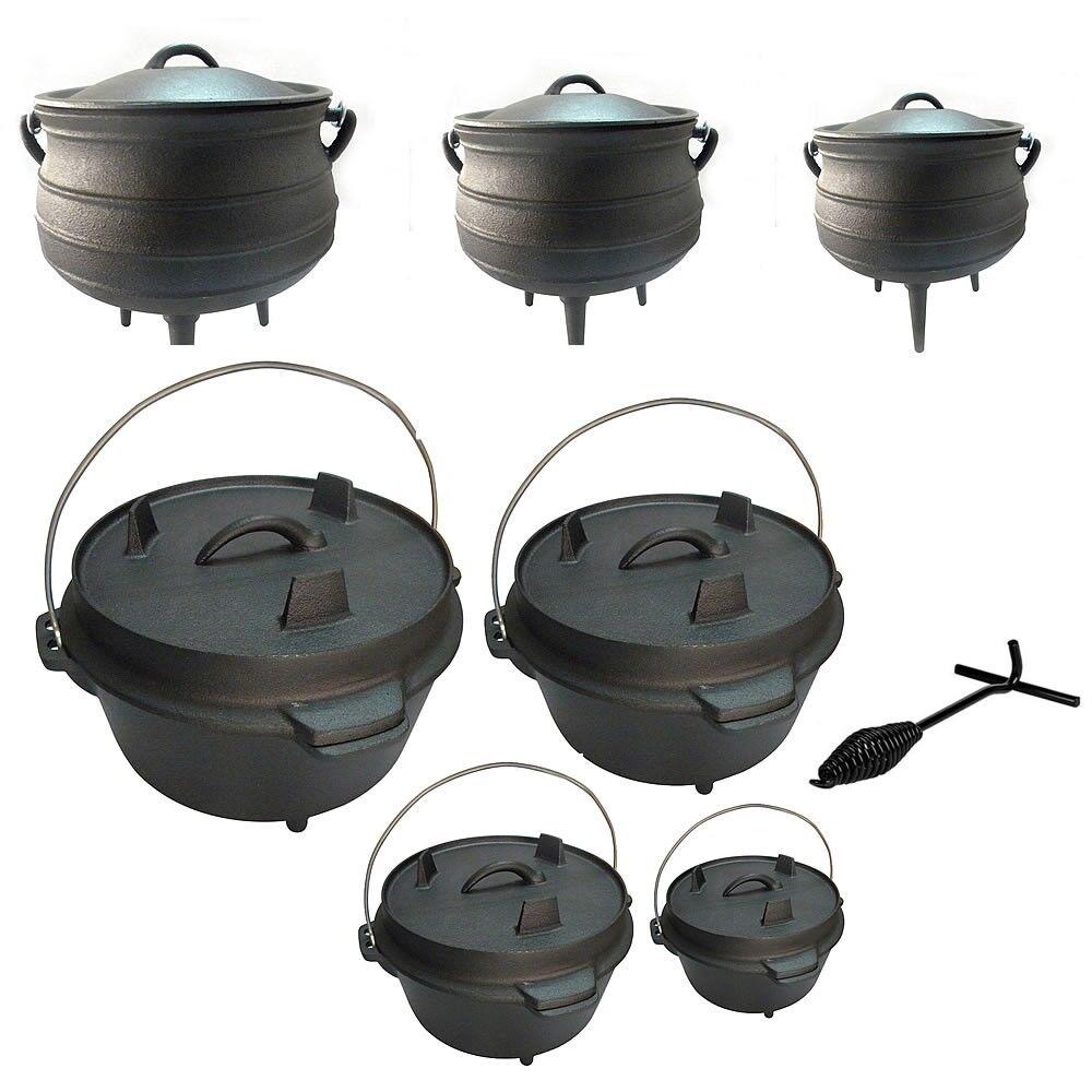 Melko ® Dutch Oven fonte potjie Feuertopf tisonnier KOCHGESCHIR Camping KOCHGESCHIR tisonnier 2ab8e3
