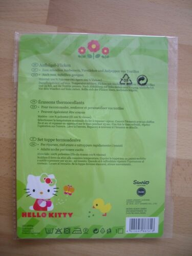 Aufbügel Flicken Patch Applikation Aufnäher NEU OVP 3 er Set Hello Kitty 2