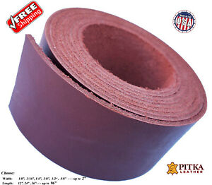 Waxy Mahogany Leather Strips  6-7 oz Craft-Belts-Purse Straps 2.4-2.8 mm
