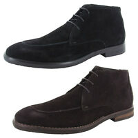Robert Wayne Mens Tatum Chukka Boots (Black or Dark Brown)