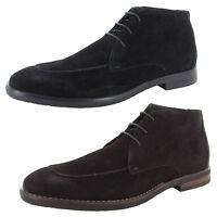 Robert Wayne Mens Tatum Chukka Boots (Black or Dark Brown)