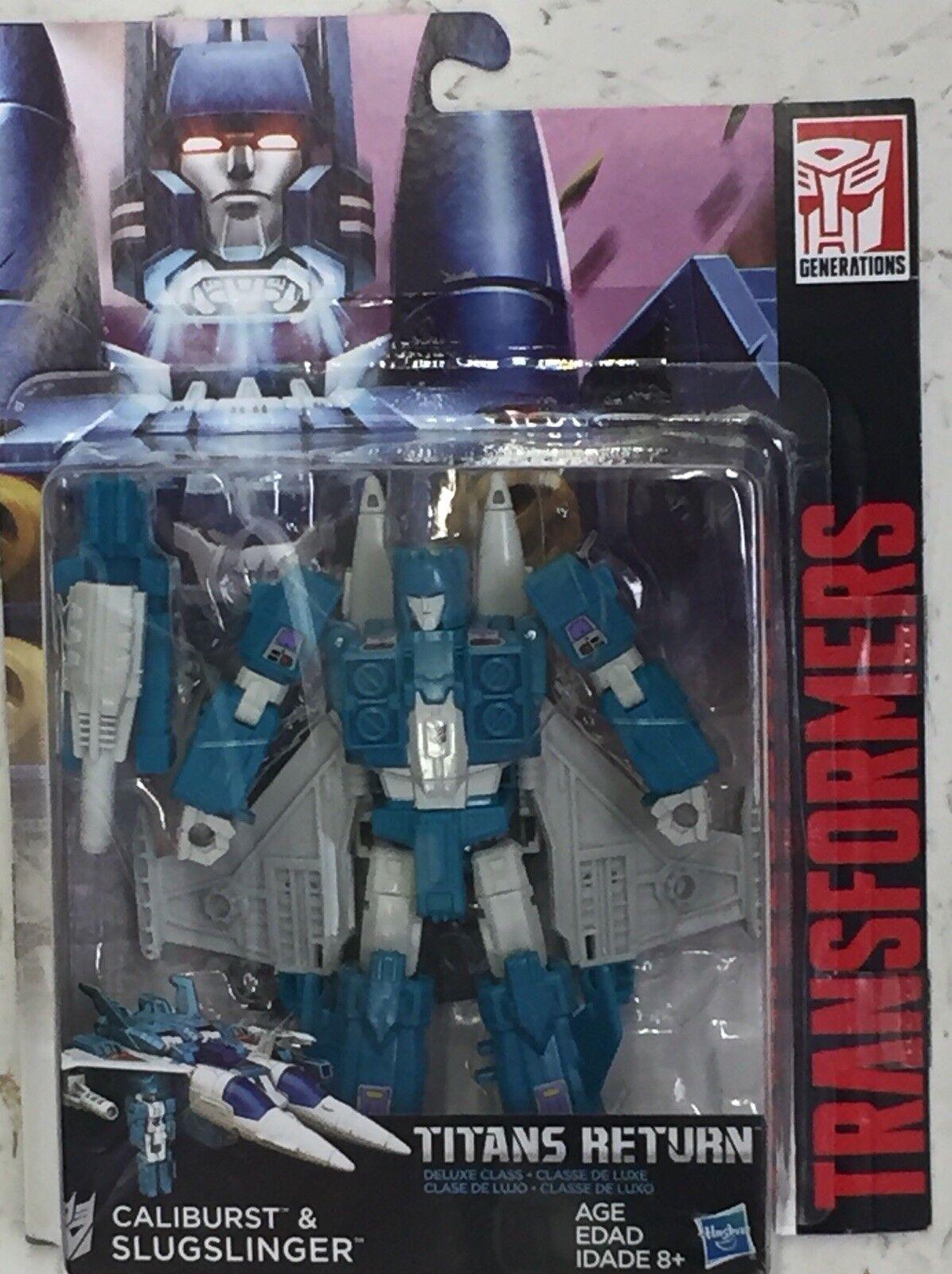 Transformers G1 Generations SLUGSLINGER and CALIBURST MOC IN HAND HAND HAND  c3535f