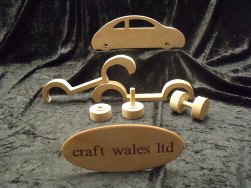 Toy Car MDF Wooden Craft Kit Project Children's bedroom Craft Wales
