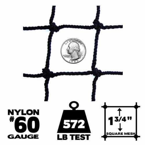 Netting Choose Border 10/' x 10/' Baseball // Softball Panel Net #60 Gauge