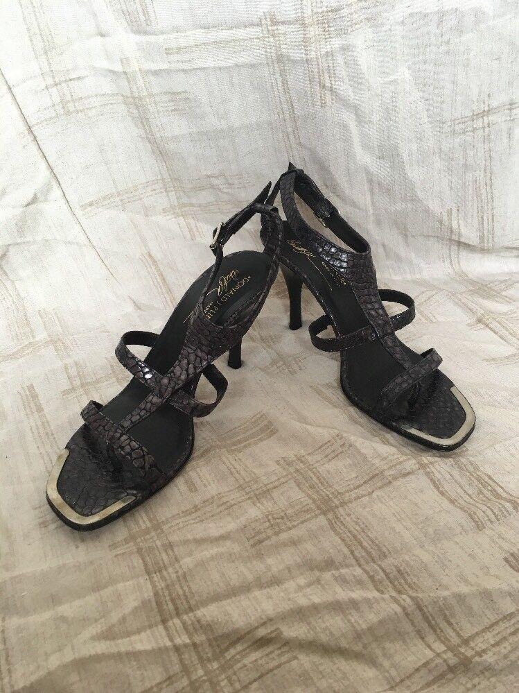 Donald J Pliner nero Kogi Patent, donna's scarpe, Dimensione 8M