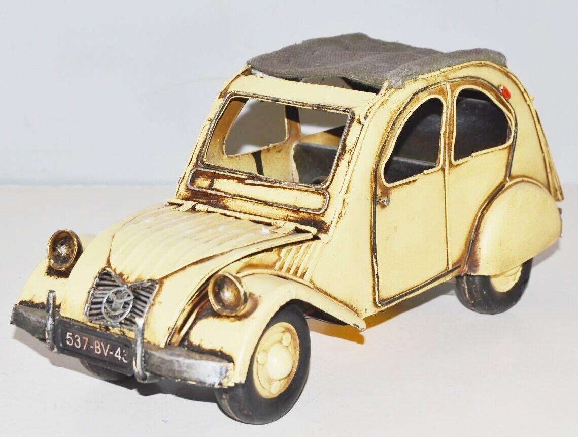 Model Car 2 CV Citroen Nostalgia Tin Model, Metal 28 cm, New (ko)