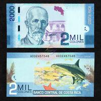 COSTA RICA 2,000 2000 Colones, 2009, P-275, UNC