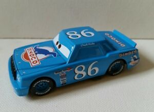 CARS-Disney-pixar-CHICK-HICKS-BLU-DINOCO-sfuso-cars-mattel-PISTON-1-55-maclama