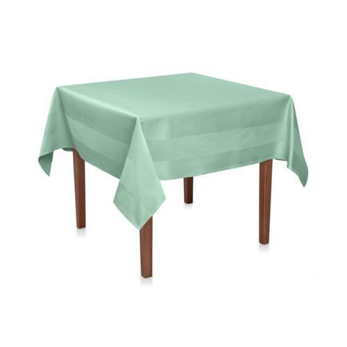 Tischdecke Grün Baumwolle Damast Atlaskante Tischwäsche Tischtuch Tafeldecke