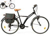 Vélo De Ville Hybride Shimano, Aluminium, 18 Vitesses, Roue De 26, Suspension
