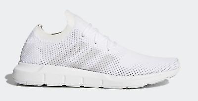 New Men's adidas Swift Run Primeknit CQ2892 PK White Gray Running Shoes n1 | eBay