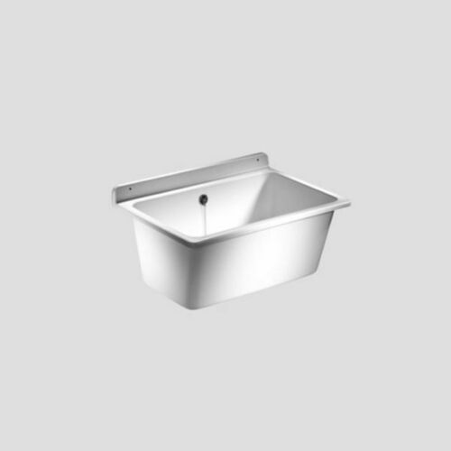 SANIT Waschtrog mit Überlauf Ausgussbecken Ausguss Waschbecken Kunststoff weiß