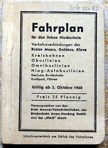 FAHRPLAN-fuer-den-linken-Niederrhein-ab-2-Oktober-1960-320-Seiten-TopZustand