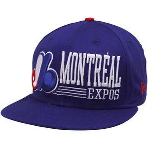 365de6dec17 MLB Montreal Expos Hat Snapback Retro Cap Blue New Era 9Fifty 950 ...
