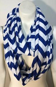 Infinity-Scarf-Royal-Blue-White-Striped-Soft-Knit
