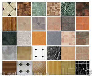 4 x Vinyl Floor Tiles - Self Adhesive - Bathroom / Kitchen Lino ...