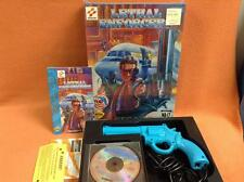 Lethal Enforcers Sega CD Game Complete in Box CIB w/ Justifier Light Gun RARE!
