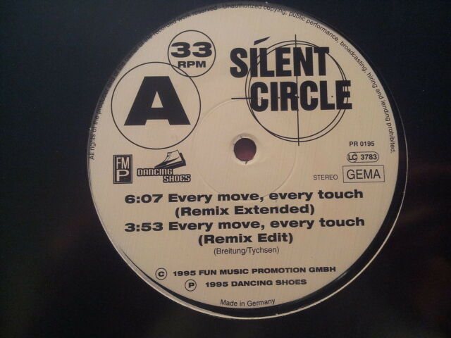 Silent Circle - Every move, every touch & Gentle - Everyday rhythm 12'' Vinyl