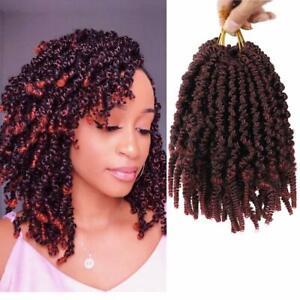Pre Twisted Spring Twist Hair Passion Twists Crochet Braids Short Curly 8 Inch Ebay