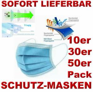 Einmal-Mundschutz-3-lagig-Atemmaske-Schutzmaske-Atemschutz-OP-Maske