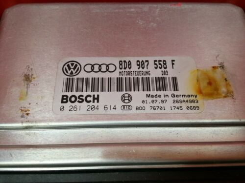 VW PASSAT 1.8 Moteur Ecu 8D0907558F 8D0907558 F 0261204614 0 261 204 614
