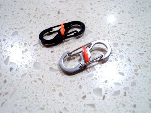 Aluminum S-biner Carabiner Keychain Clip Key Ring Snap Spring Hook Camping