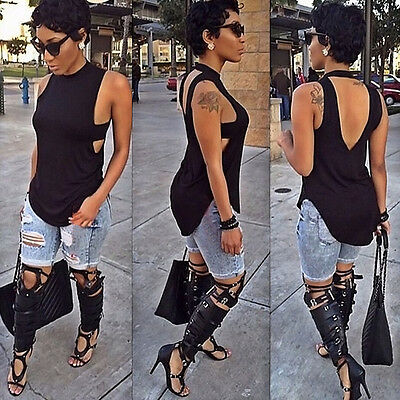 New Fashion Womens Summer Vest Top Sleeveless Blouse Casual Tank Tops T-Shirt