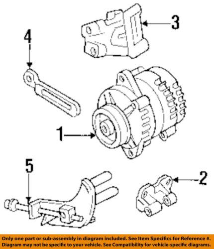 HONDA OEM Alternator-Adjust Bracket 8970871422