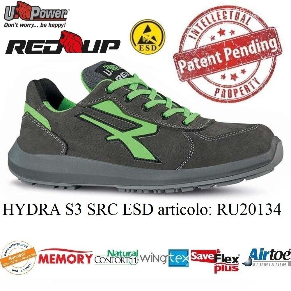 UPOWER chaussures LAVor ANTINFORTUNISTICA HYDRA S3 SRC ESD U-POWER RU20134 rouge UP