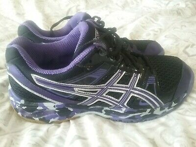 Womens Asics Gel 1140V Volleyball Shoes Size 8.5 Purple Camo Silver | eBay