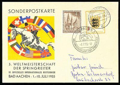 KöStlich 660933) Bund Soka 3. Wm Der Springreiter Bad Aachen 1955 Pferde Etc.. GroßEs Sortiment