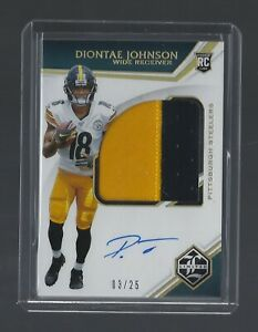 DIONTAE-JOHNSON-2019-Limited-168-GOLD-ROOKIE-PATCH-AUTOGRAPH-03-25-Lot