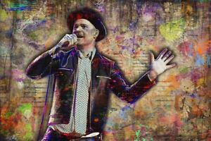 GORD-DOWNIE-Poster-Gord-Downie-Print-Tragically-Hip-Art-16x20in-Free-Shipping