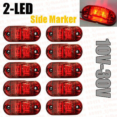 8X LED Front Side Marker White Light Car Truck Van Trailer Lorry Lamp 12-24V NEW