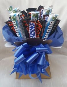 Image is loading Chocolate-Bouquet-Snickers-Mars-Bounty -Ideal-Birthdays-Sweet-