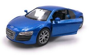 Coche-Modelo-Audi-R8-Coche-Deportivo-Azul-Coche-Escala-1-3-4-39-con-licencia