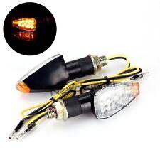 2x Universal Motorcycle Black LED Turn Signal Blinker Light Indicator Amber Lamp