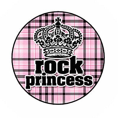 """Buttons Pins Badges 1.5/"""" 4 POP PRINCESS ROCK STAR"""