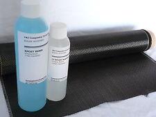 "Carbon Fiber Fabric Kit 3K Plain Weave 14""W and epoxy resin"