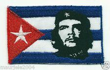 Toppe o Patch Bandiera Cuba + Che Guevara 5,50x8,50 NUOVA Ricamata Termoadesiva