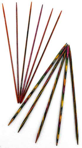 KnitPro Symfonie legno doppia PUNTATA aghi di calzino di DPN 2mm - 8mm lunghezza