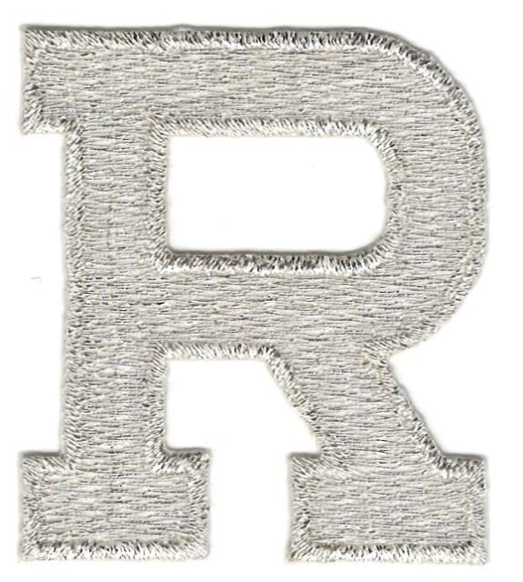 """1/"""" Tall Red Monogram Block Letter O Embroidery Patch"""