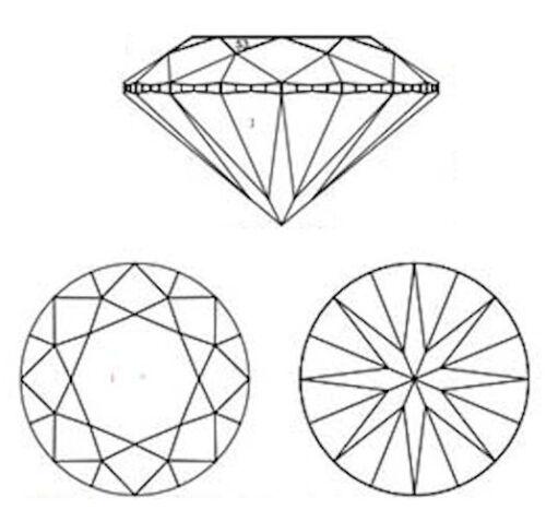 8 Coeurs /& Flèches Coupe Rond Zircon Cubique