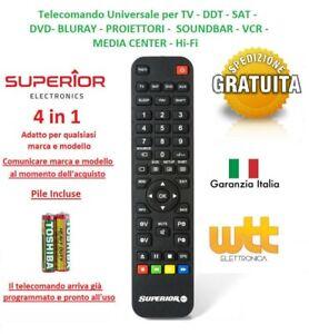 telecomando telefunken universale  Telecomando Universale TELEFUNKEN Compatibile per Tv Decoder ...