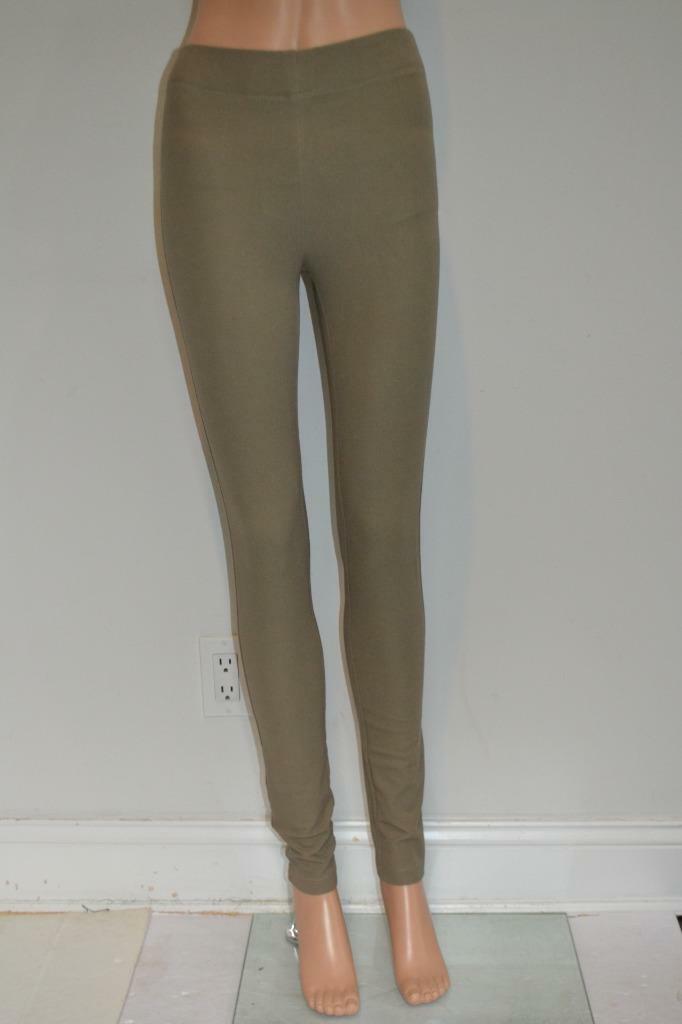 NWOT Joseph Khaki Pull-on 'Gabardine' Stretch Leggings Pants, Größe F34