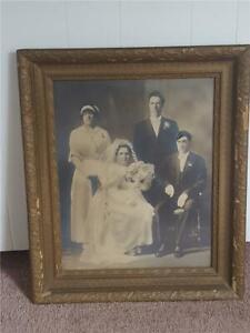 Antique Wooden Frame Decorative Arts Wedding Photo
