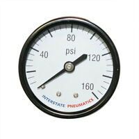 Pressure Gauge 160 Psi 1 -1/2 Diameter 1/8 Npt Rear Mount G2101-160