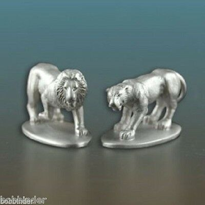 W. T. WILSON #6003 LION SET OF 2 NOAH'S ARK PEWTER PORT NEW