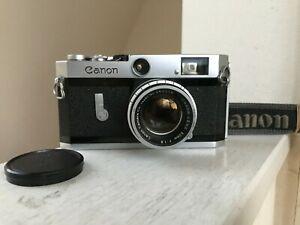 EXC-5-Canon-P-Rangefinder-50mm-f1-8-l39-Leica-Screw-Mount-Lens-aus-Japan